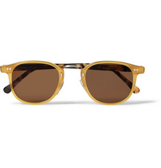 Illesteva Tribeca Two-Tone Acetate D-Frame Sunglasses