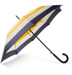 Hudson's Bay Striped Wood-Handled Umbrella