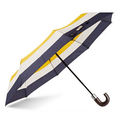 Hudson's Bay Striped Wood-Handle Umbrella