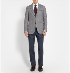 Dunhill Checked Wool and Cashmere-Blend Blazer