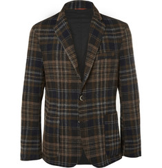 Barena Slim-Fit Checked Stretch-Wool Blazer