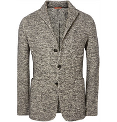 Barena Unstructured Knitted Mélange Wool-Blend Blazer