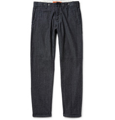 Barena Slim-Fit Cotton-Chambray Trousers