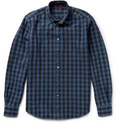 Barena Herringbone Checked Cotton Shirt