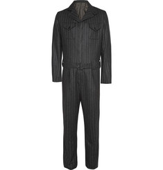 Kingsman Chalk Striped Wool Siren Suit