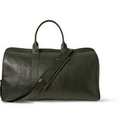 Lotuff Travel Grained-Leather Holdall Bag