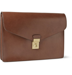Lotuff Lock and Key Bridle Leather Document Case