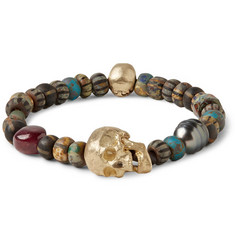Luis Morais Black Pearl, Ruby and Bead Bracelet