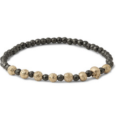 Luis Morais Gold and Hematite Bead Bracelet