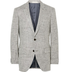Club Monaco Grey Grant Silk and Linen-Blend Tweed Blazer