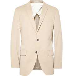 Club Monaco Ecru Grant Stretch-Cotton Twill Blazer