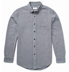 Club Monaco Button-Down Collar Basketweave Cotton Shirt