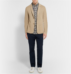 Club Monaco Knitted Linen and Cotton-Blend Blazer