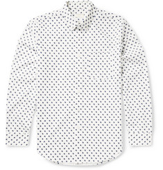 Club Monaco Button-Down Collar Printed Cotton Shirt
