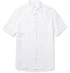 Club Monaco Slim-Fit Button-Down Collar Linen Shirt