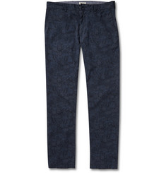 Club Monaco Connor Slim-Fit Printed Cotton Chinos