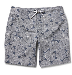 Club Monaco Lily Pad Printed Swim Shorts