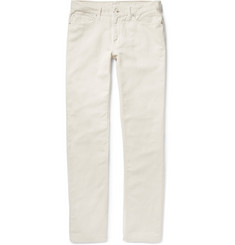 Club Monaco Washed Cotton and Linen-Blend Twill Trousers