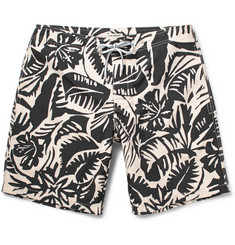 Club Monaco Long-Length Printed Swim Shorts