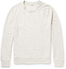 Club Monaco Marled Cotton-Blend Jersey Sweatshirt