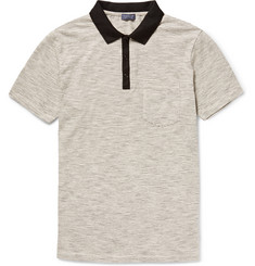 Club Monaco Striped Cotton-Jersey Polo Shirt