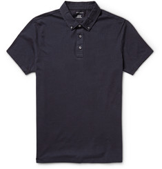 Club Monaco Garment-Dyed Cotton-Jersey Polo Shirt