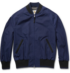 Club Monaco Golden Bear Twill Bomber Jacket