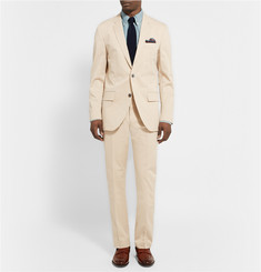 Club Monaco Ecru Grant Slim-Fit Stretch-Cotton Twill Trousers