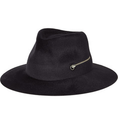 Larose Zip-Trimmed Rabbit-Felt Fedora Hat