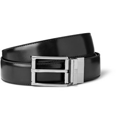 Alfred Dunhill Black 3cm Reversible Leather Belt