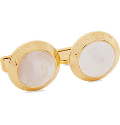 Dunhill Gold-Plated Mother Of Pearl Cufflinks