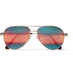 Cutler and Gross Mirrored Aviator Sunglasses