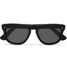 Cutler and Gross D-Frame Matte Acetate Sunglasses