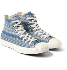 Converse - 1970s All Star Chuck Taylor Striped Canvas High-Top Sneakers