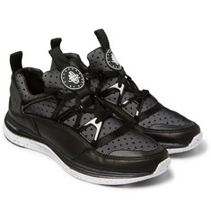 Nike Lunar Huarache Light Leather and Mesh Sneakers