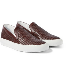 Armando Cabral Woven Leather Slip-On Sneakers