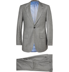 Lutwyche Grey Slim-Fit Checked Wool, Mohair and Cashmere-Blend Three-Piece Suit