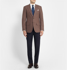 Lutwyche Brown Check Wool and Cashmere-Blend Blazer