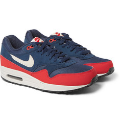 Nike Air Max 1 Leather, Suede and Mesh Sneakers