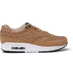 Nike Air Max 1 Woven-Leather Sneakers