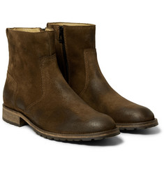Belstaff Atwell Burnished-Leather Boots