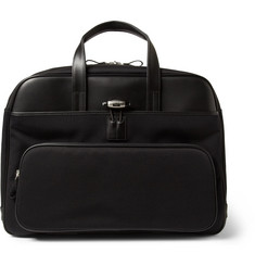 Montblanc Nightflight Leather and Canvas Holdall Bag