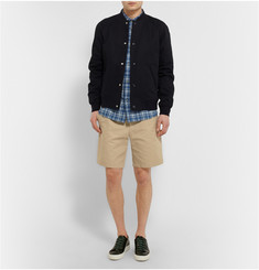 A.P.C. Check Cotton and Linen-Blend Shirt