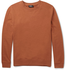 A.P.C. Cotton and Linen-Blend Sweatshirt