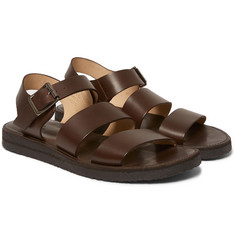 A.P.C. Crepe-Sole Leather Sandals