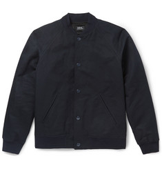 A.P.C. Kenickie Cotton and Linen-Blend Bomber Jacket
