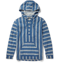 J.Crew Shibori Baja Striped Cotton Hoodie