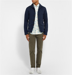 J.Crew Slim-Fit Printed Cotton-Poplin Shirt