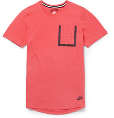 Nike Tape-Trimmed Cotton T-Shirt
