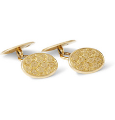 Foundwell Vintage Henry Griffith & Sons 18-Karat Gold Ivy Leaf Cufflinks